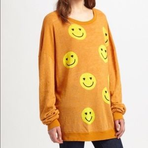Wildfox All Smiles barefoot gold sweater sz XS